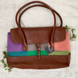 Vintage Liz Claiborne Leather muti color bag